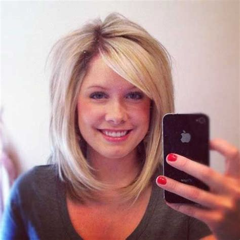 one length bob with side sweep 15 latest long bob with side swept bangs bob hairstyles