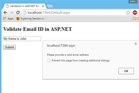 email format check in javascript validate email id in asp net textbox using javascript prb