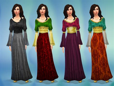 medieval sims 4 mod the sims medieval times dress