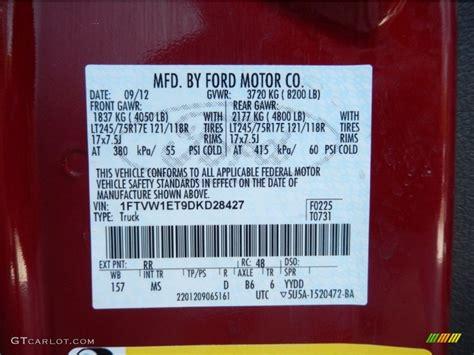 2013 ford f150 xlt supercrew 4x4 color code photos gtcarlot