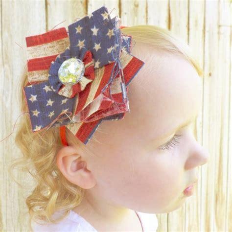 diy fabric bows boutique bows diy patriotic patchwork fabric posy headband