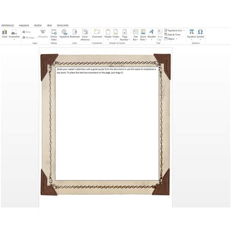 word 2016 2013 2010 using simple borders for a table of contents how to add free borders clip microsoft word documents for office 2013 and