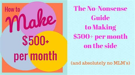the nonsense guide to money an awesomely guide to the world of finance nonsense series books the no nonsense guide to make 500 per month from home