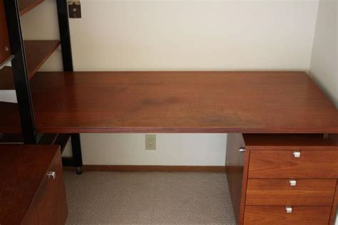 Wall Unit Desk Combo george nelson for herman miller css desk and wall unit combo at 1stdibs