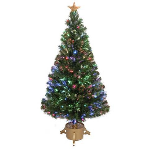 Jolly workshop fiber optic 4 green artificial christmas tree with led