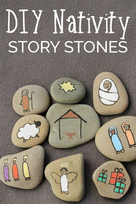 diy meaning diy nativity story stones understand voyage and company