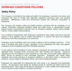 Health And Safety Policy Template For Small Business by Sle Human Resources Policies Sle Procedures For