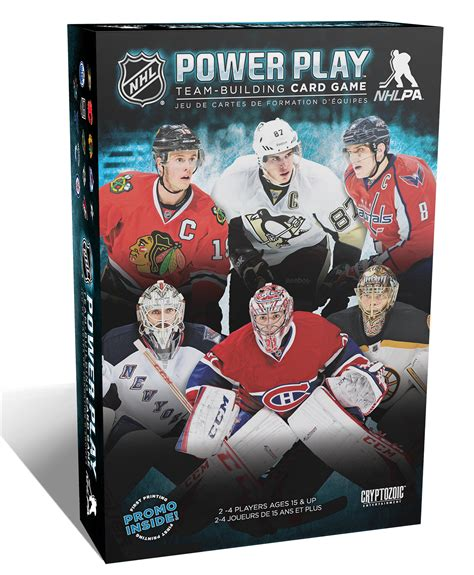 card power plays nhl power play team building card cryptozoic