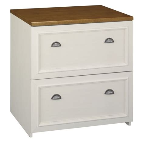 Lateral Two Drawer File Cabinet Bush Fairview 2 Drawer Lateral Wood File White Filing Cabinet Ebay