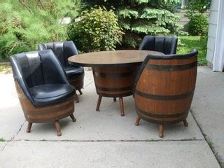 Shed Wooden Barrel Stools by Vintage Oak Barrel Table And Chairs