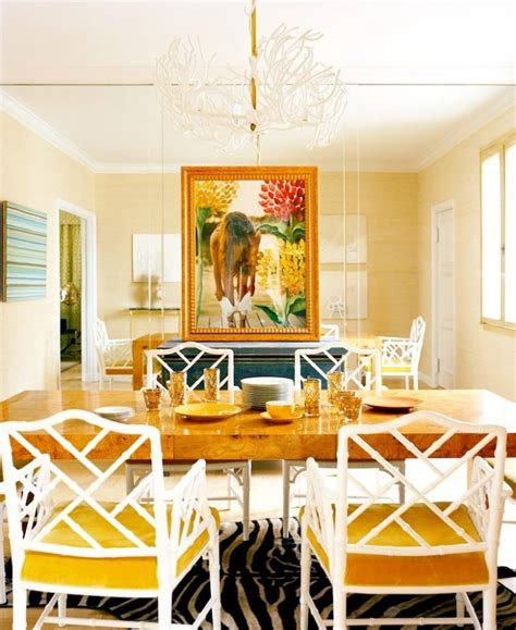 dining room beige yellow white dining room