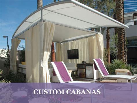 Custom Awning Fabric Resort Cabanas Pool Cabanas Beach Cabanas Resort Cabanas