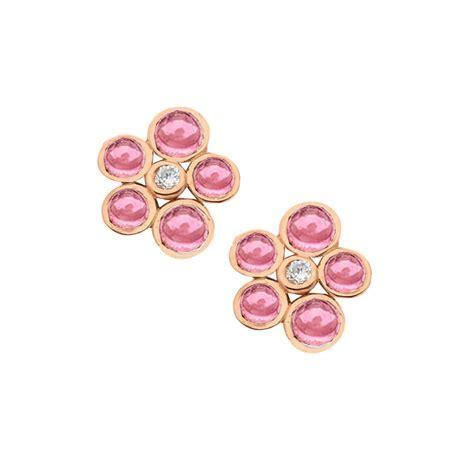 Rose Gold Diamond & Tourmaline Earrings   London Road
