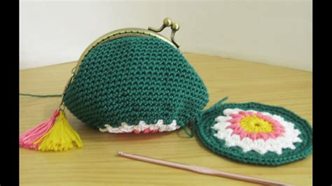 Coin Pouch Dompet Koin Beruang crochet tutorial dompet koin dengan behel inner coin purse with frame