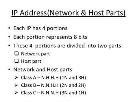 ip address sections ccna ip address presentation part 1