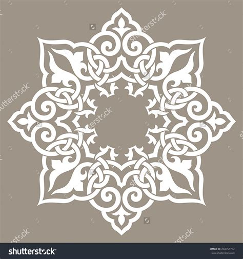 islamic round pattern vector round pattern mandala abstract design of persian islamic