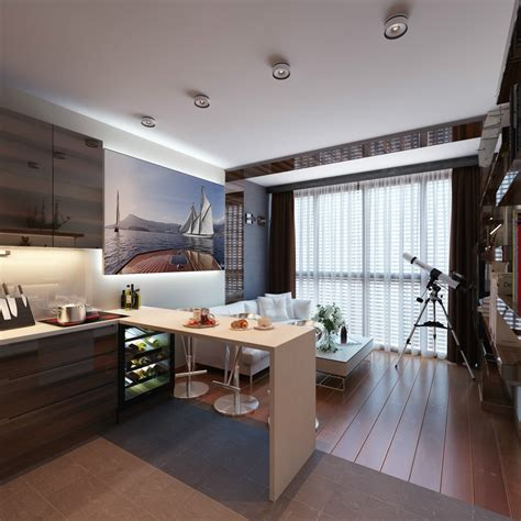 3 Distinctly Themed Apartments Under 800 Square Feet With Apartments Design
