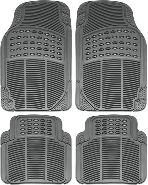 car floor mats  auto  weather rubber pc set semi custom heavy duty gray ebay