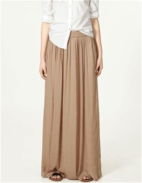 zara maxi brown skirt diane kruger 4 jpg image