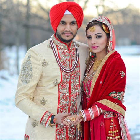 Snowy New York Sikh Wedding , Wedding Real Weddings Photos