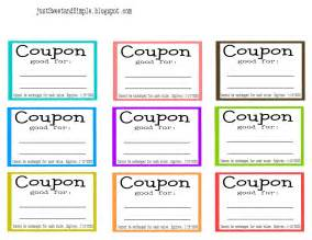 Coupon Cards Template Word by Just Sweet And Simple S Day Coupons