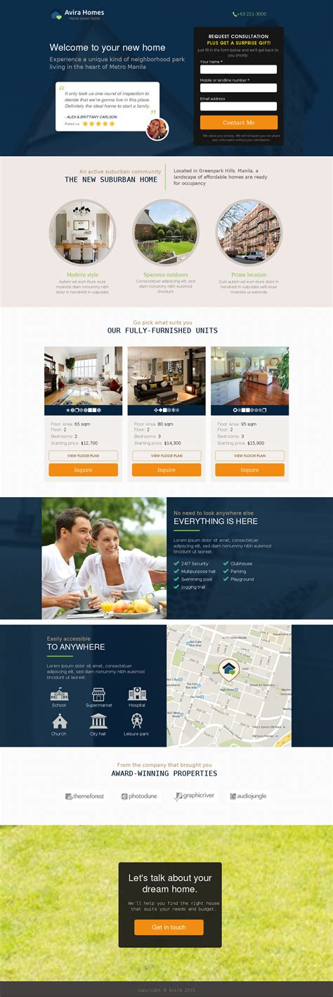 5 Real Estate Landing Page Templates For Your Appraisal Real Estate Page Template