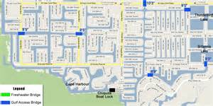map of cape coral florida neighborhoods boater s information the locks and bridges of cape coral
