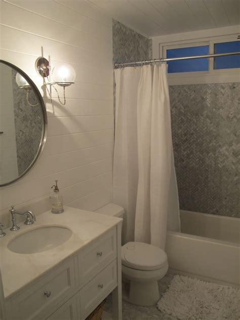 Oval Drop In Bathtub Blue And Brown Bathroom Contemporary Bathroom