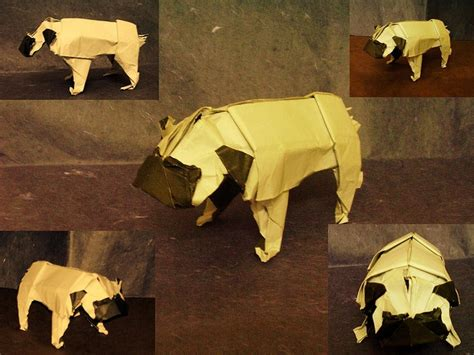 How To Make An Origami Pug - pug origami papercraft origami