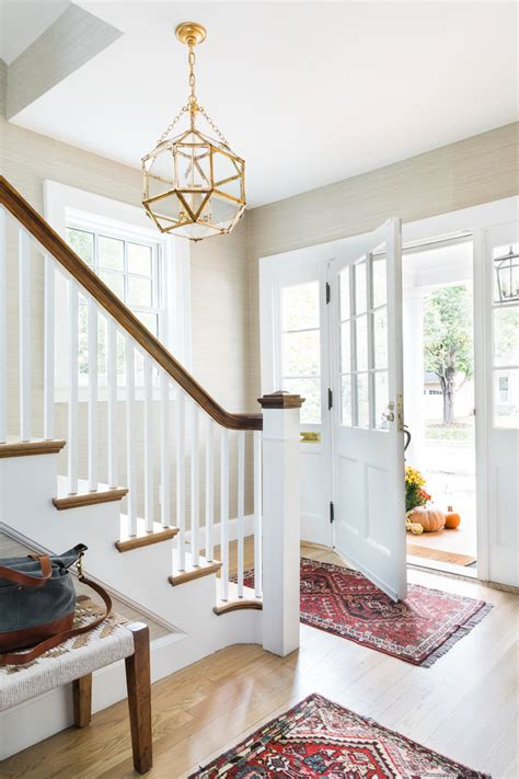 comfortable transitional entry hall designs