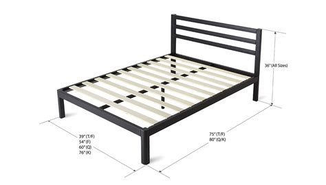 Wood And Metal Bed Frame Wood Slat Metal Bed Frame Deluxe With Headboard Intellidream
