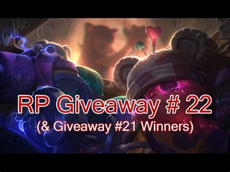 Rp Giveaway - closed rp giveaway 22 league of legends youtube