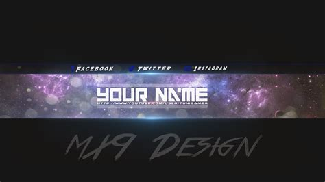 47 new youtube banner template with logo banner template
