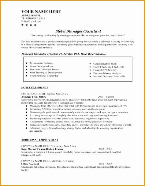 resume format doc for hotel management 7 hotel management cv letter free sles exles format resume curruculum vitae free