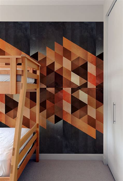 pattern accent wall ideas generate a captivating accent wall with geometric pattern