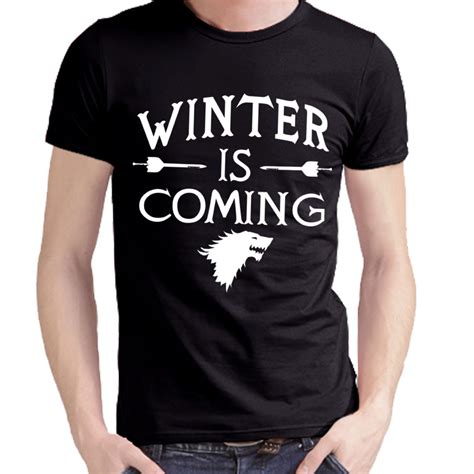 Tshirt Winter Is Coming I of thrones winter is coming t shirt of thrones