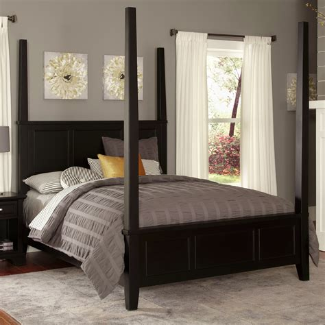 home styles bedford four poster bed reviews wayfair