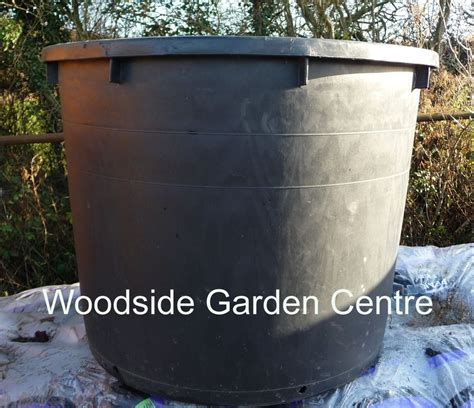 Large Tree Planters by Large Black Plastic 750 Ltr Heavy Duty Garden Pot