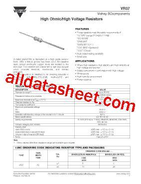 vishay vr37 resistors vr37 datasheet pdf vishay siliconix