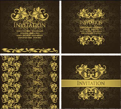 Invitation Letter Background Images 華やか ゴールド 飾り 招待状 カード 背景 ベクター 03 無料ベクター素材サイトのサシアゲル