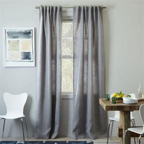 west elm drapes burlap curtain platinum west elm