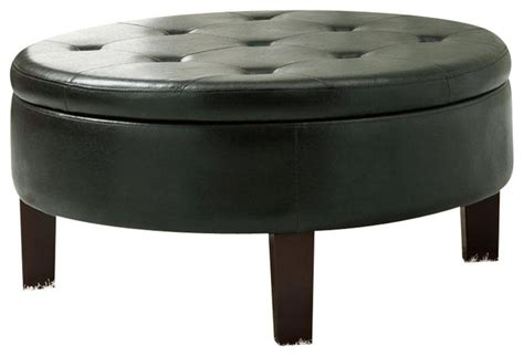 round upholstered storage ottoman coaster round upholstered storage ottoman with tufted top