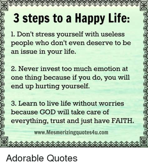 Don T Take Your Stress Out On Your Husband - 3 steps to a happy life l don t stress yourself with