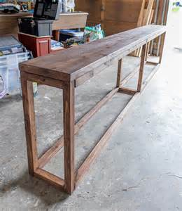 table diy best 25 diy sofa table ideas on