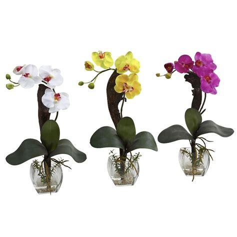 mini phalaenopsis orchid silk flower arrangement set of 3