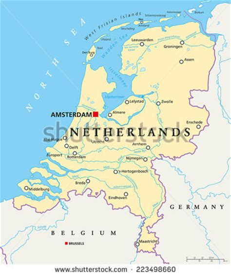 netherlands capital map netherlands map stock images royalty free images