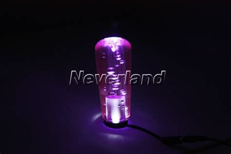 Light Up Gear Shift Knobs by Purple Car Manual Gear Stick Shift Shifter Lever