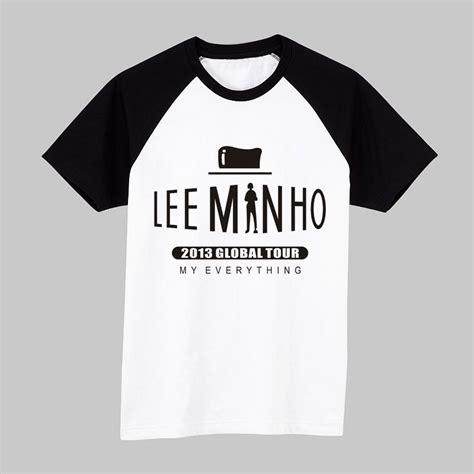fan made t shirts korean star lee minho short sleeve t shirt lee min ho fan