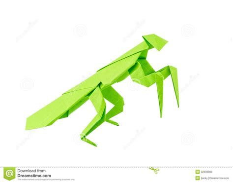 Origami Mantis - origami mantis royalty free stock photos image 32839988