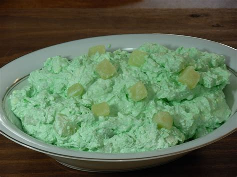 green jello salad with cream cheese and pineapple